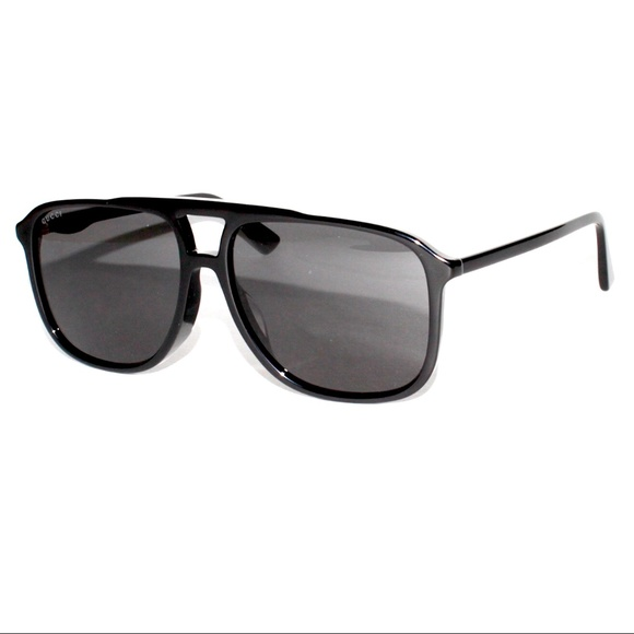 9cd7e635d0e Gucci-GG0262SA-001-60-15-Black-Pilot-Sunglasses